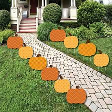 pumpkin patch pumpkin lawn decorations outdoor fall or