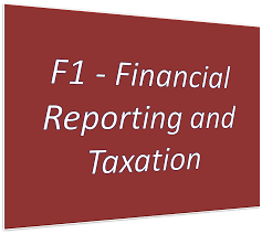 f1 financial reporting and taxation resources study cima
