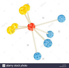 molecule model children color toy isolated on white stock photo