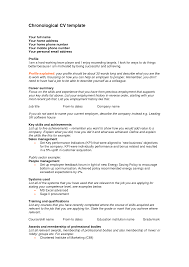 Resume Dates by Chronological Resume Chronological Resume Template Free