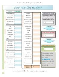 budget worksheet free printable pdf printables pinterest