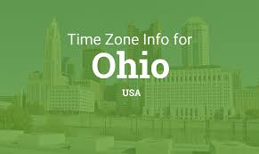 Us Timezone Map Time Zones In Ohio United States