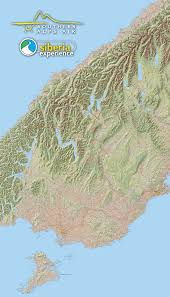 Alps On A Map Southern Alps Air Map Southern Alps Air Wanaka New Zealand