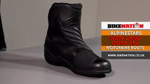 new motorcycle boots alpinestars new land boots gore tex bikenation youtube