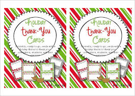 15 holiday thank you cards u2013 free printable psd pdf eps format