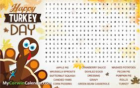 thanksgiving word search mycorwincalendar com community resource u2013 premium activity
