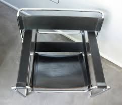 Marcel Breuer Chairs Wassily B3 Chair Black Leather Marcel Breuer By Gavina For Knoll