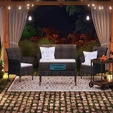 brayden studio bentz outdoor 4 piece conversation set with cushion