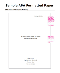 writing a paper in apa format how to write an apa style paper