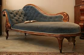 Leather Chaise Lounge Chairs Indoors Furniture Indoor Chaise Lounge Chair Blue Color Indoor Chaise