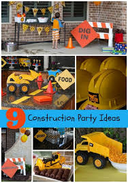 Construction Themed Centerpieces by Construction Birthday Party Ideas For Boys Www