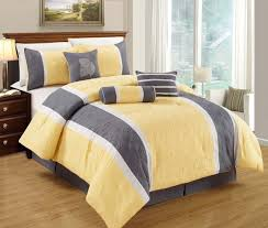Grey Quilted Comforter Yellow Grey White Simple Modern Bedding Sets U2013 Ease Bedding With Style