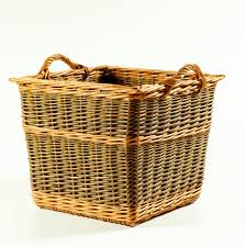 Square Laundry Hamper by Tapered Square Log Basket U2013 Randed Weave Wicker Baskets