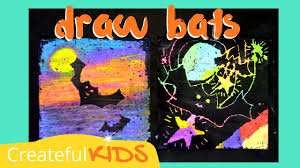how to draw a bat halloween art project for kids youtube