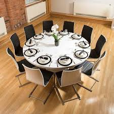 Extendable Dining Table Seats 10 Round Expandable Dining Table Home Design Amazing Round