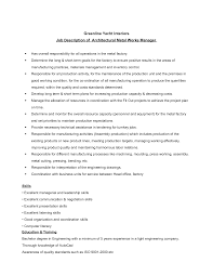 Machine Operator Job Description Plant Worker Cover Letter