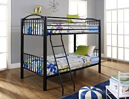 coaster fordham black twin over bunk bed with built in photo