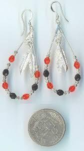 school earrings southernangel s crafted school mascot jewelry beading