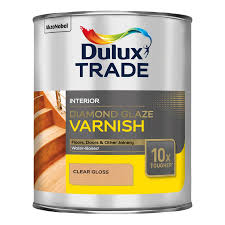 dulux trade clear gloss varnish 1000ml departments diy at b u0026q