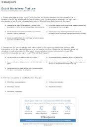 quiz u0026 worksheet tort law study com