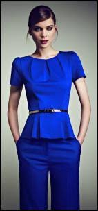 royal blue blouse top cobalt and royal blue colour trends in womens fashion 2011 12