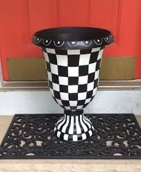 buy a custom painted urn planter whimsical painted planter urn