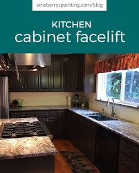 paint or stain kitchen cabinets kitchen cabinet re stain transformation before and after