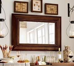 Floor Mirror Pottery Barn Over Mantle Two Tone Wood Framed Mirror 36x48 Inches Finished