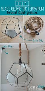 Make Your Own Pendant Light Fixture Remodelaholic Terrarium To Geometric Pendant Light