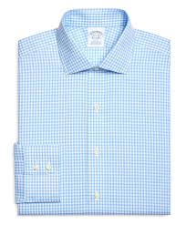 brooks brothers non iron slim fit gingham check dress shirt in