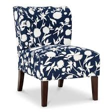 Threshold Chairs Amazon Com Scooped Back Chair Threshold Navy Floral 15102600