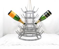 large antique french wine bottle drying rack holder for 52