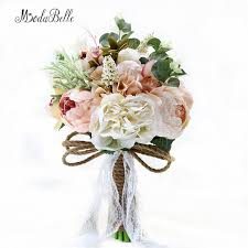 artificial wedding bouquets 2017 countryside style artificial wedding bouquets for brides
