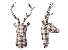 stag head designs more plaid please welcome fall with this irresistible pattern