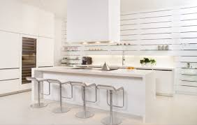 kitchen rectangle white contemporary marble kitchen island with