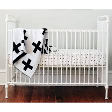 Muslin Crib Bedding Crib Sheet Swiss Cross