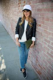 21 cool ways to style a leather jacket brit co