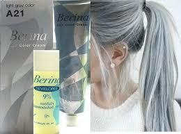 Gry Colour Hair Colour Permanent Hair Cream Dye Light Ash Grey Amazon Co Uk