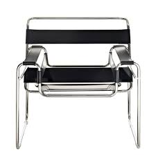 Leather And Chrome Chairs Leather Strap Chair Brickell Collection Modern Furniture
