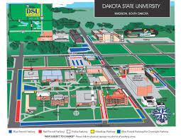 South Dakota State University Campus Map by Parking Rules And Regulations Dakota State University
