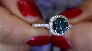 blue diamond wedding rings blue diamond engagement ring 2 60ct diamonds set in 18k