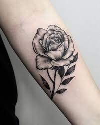 black and gray rose tattoo flower tattoos pinterest rose