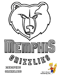 basketball logo coloring pages memphis grizzlies coloring page coloring home