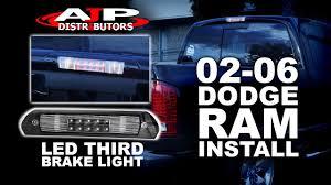 02 06 dodge ram led third brake light install ajp distributors