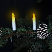 flickering led candle tree lights