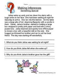 making inferences something special 13 2nd 5th grade worksheet