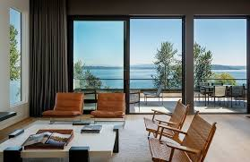modern curtains for balcony doors with elegant living area using