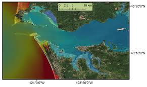 Columbia River Map Outlines Impact Of Tsunami On The Columbia River