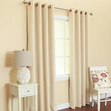 2 heavy faux silk panels blackout beige grommet window curtain