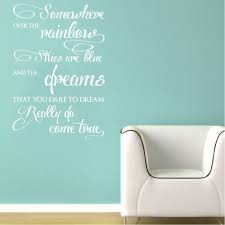 Wizard Of Oz Wall Stickers Wall Vinyl Decal Somewhere Over The Rainbow Song Lyrics By Israel